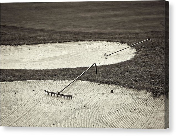 Golf Course Sand Trap - Canvas Print from Wallasso - The Wall Art Superstore