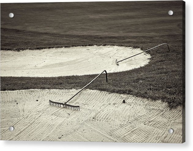 Golf Course Sand Trap - Acrylic Print from Wallasso - The Wall Art Superstore