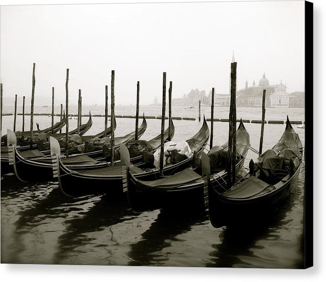 Gondolas In Venice Grand Canal - Canvas Print from Wallasso - The Wall Art Superstore