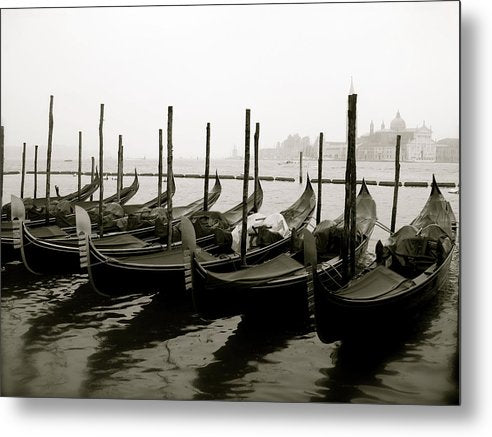 Gondolas In Venice Grand Canal - Metal Print from Wallasso - The Wall Art Superstore