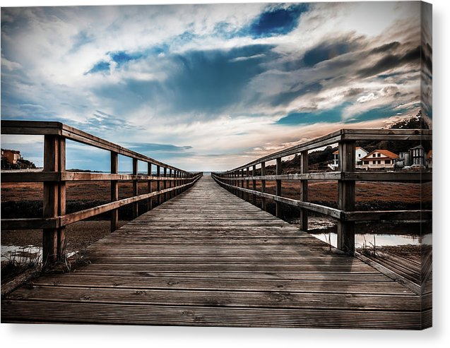 Gorgeous Boardwalk With Cloudy Sky - Canvas Print from Wallasso - The Wall Art Superstore