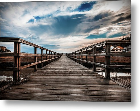 Gorgeous Boardwalk With Cloudy Sky - Metal Print from Wallasso - The Wall Art Superstore