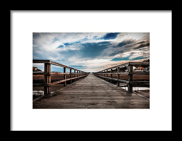 Gorgeous Boardwalk With Cloudy Sky - Framed Print from Wallasso - The Wall Art Superstore