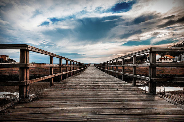 Gorgeous Boardwalk With Cloudy Sky - Art Print from Wallasso - The Wall Art Superstore
