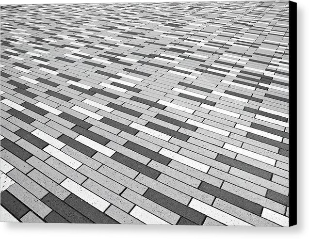 Gray Pattern Floor - Canvas Print from Wallasso - The Wall Art Superstore