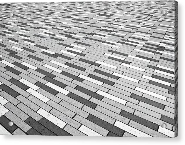 Gray Pattern Floor - Acrylic Print from Wallasso - The Wall Art Superstore