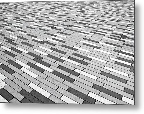 Gray Pattern Floor - Metal Print from Wallasso - The Wall Art Superstore
