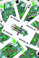 Green Pop Art Playing Cards - Art Print from Wallasso - The Wall Art Superstore
