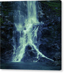 Green Tinted Waterfall, 2 of 2 Set - Canvas Print from Wallasso - The Wall Art Superstore