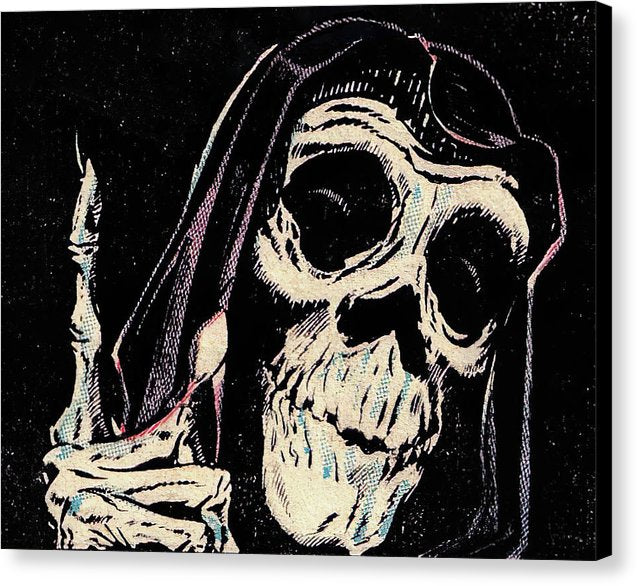 Grim Reaper, Vintage Comic Book - Canvas Print from Wallasso - The Wall Art Superstore