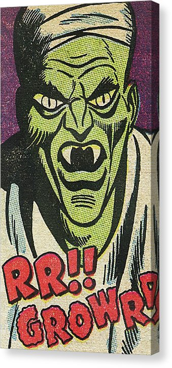 Growling Green Monster, Vintage Comic Book - Canvas Print from Wallasso - The Wall Art Superstore