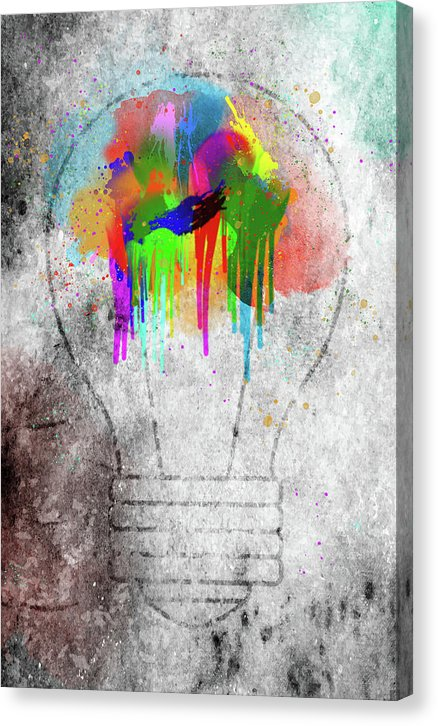Grunge Light Bulb Street Art - Canvas Print from Wallasso - The Wall Art Superstore