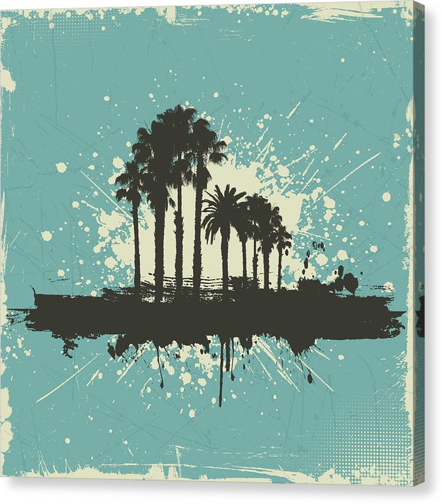 Grunge Palm Tree Design - Canvas Print from Wallasso - The Wall Art Superstore