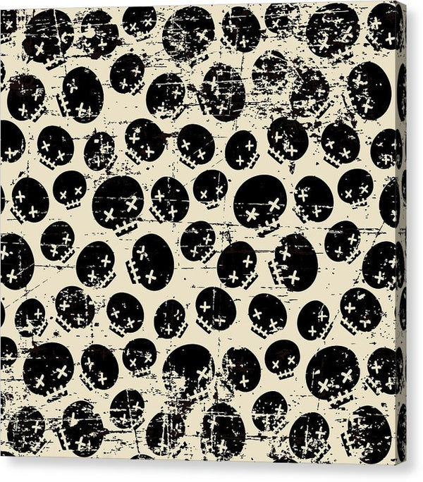 Grunge Skull Pattern - Canvas Print from Wallasso - The Wall Art Superstore