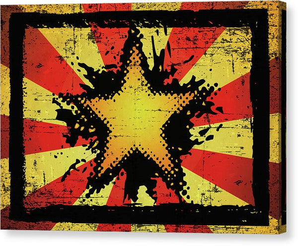 Grunge Starburst Design - Canvas Print from Wallasso - The Wall Art Superstore