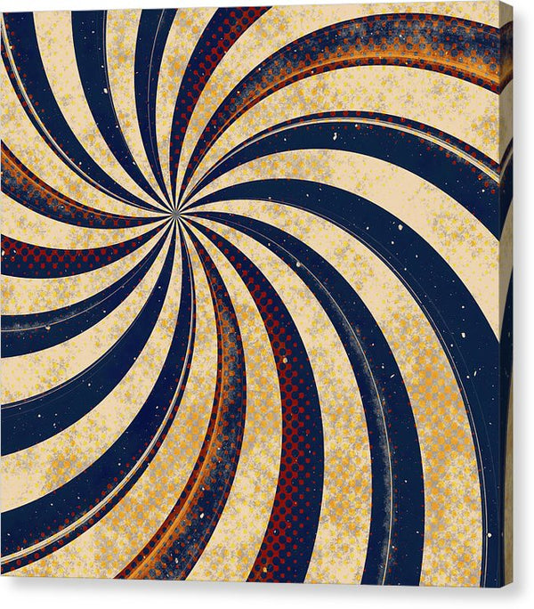 Grunge Swirl Design - Canvas Print from Wallasso - The Wall Art Superstore