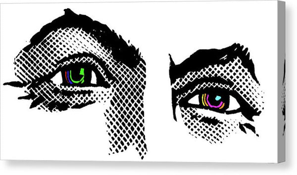 Harry Houdini Eyes Pop Art, Colored Irises - Canvas Print from Wallasso - The Wall Art Superstore