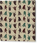 Hawaiian Shaka Hand Gesture Pattern - Acrylic Print from Wallasso - The Wall Art Superstore