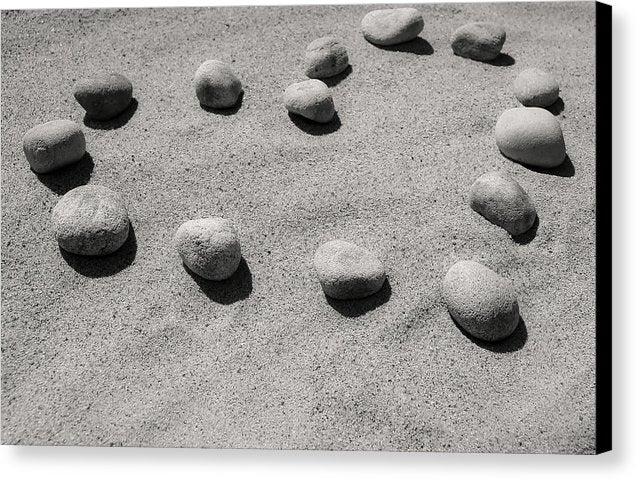 Heart In Sand Made of Stones - Canvas Print from Wallasso - The Wall Art Superstore