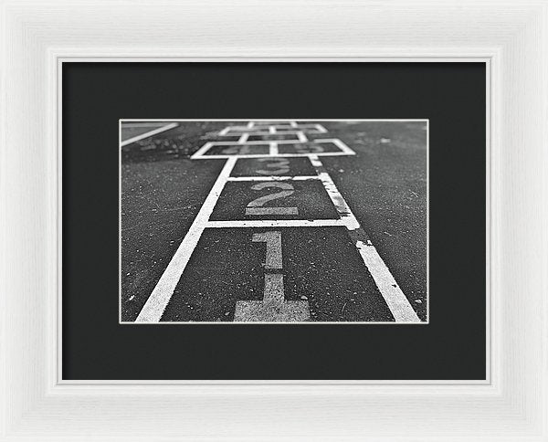 Hopscotch Game Squares - Framed Print from Wallasso - The Wall Art Superstore