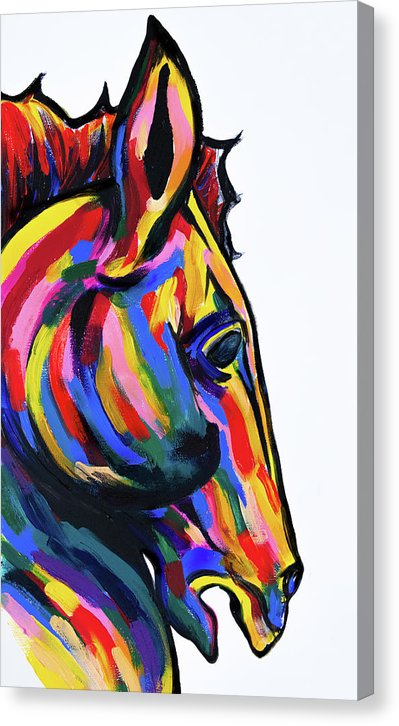 Horse of A Different Color by Jessica Contreras - Canvas Print from Wallasso - The Wall Art Superstore