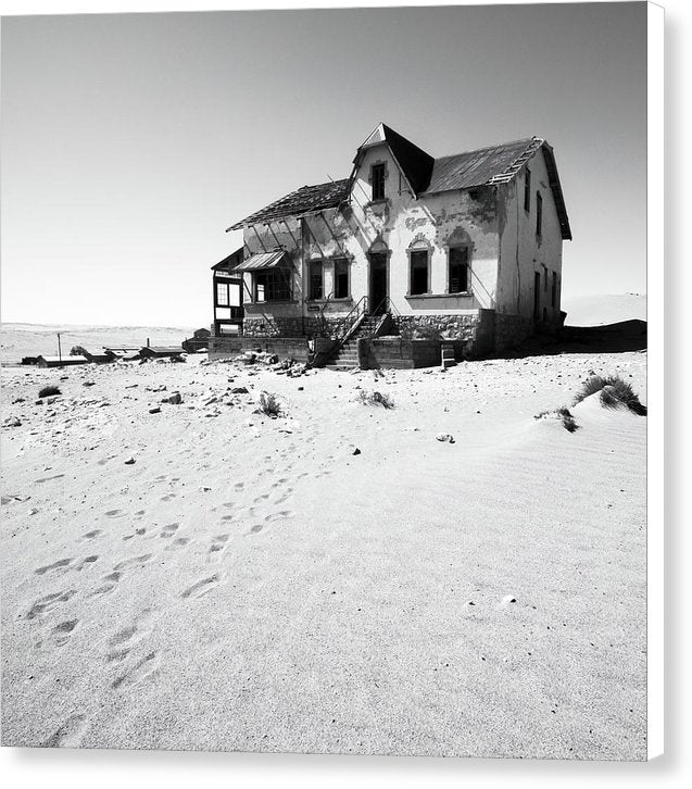 House Abandoned In Desert - Canvas Print from Wallasso - The Wall Art Superstore