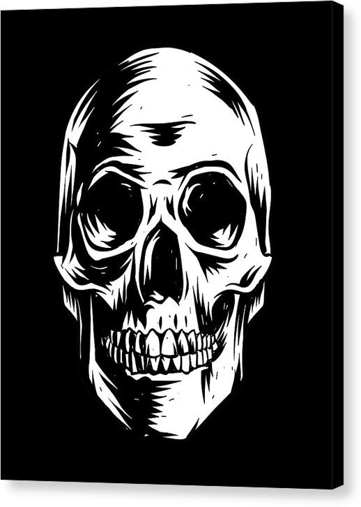 Human Skull Illustration - Canvas Print from Wallasso - The Wall Art Superstore