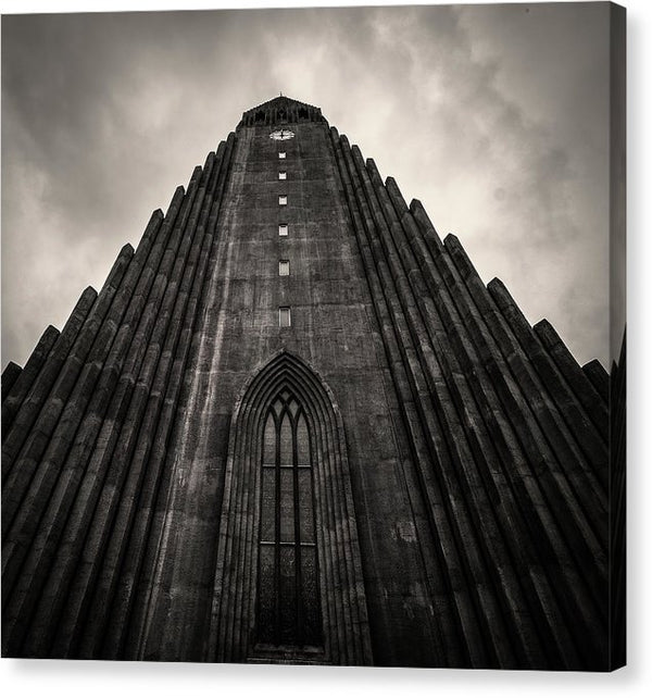 Icelandic Church, Sepia - Canvas Print from Wallasso - The Wall Art Superstore