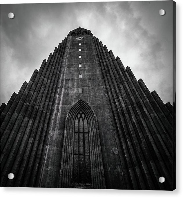 Icelandic Church - Acrylic Print from Wallasso - The Wall Art Superstore