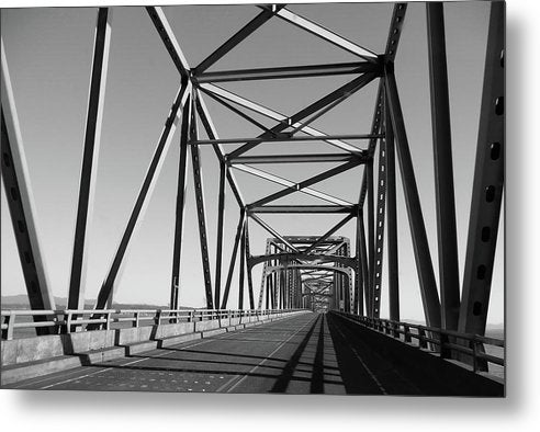Industrial Bridge, Black and White - Metal Print from Wallasso - The Wall Art Superstore