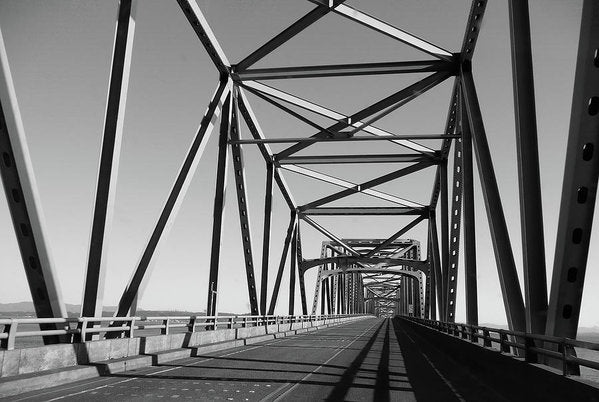 Industrial Bridge, Black and White - Art Print from Wallasso - The Wall Art Superstore