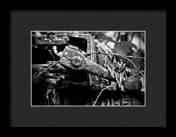 Industrial Metal - Framed Print from Wallasso - The Wall Art Superstore