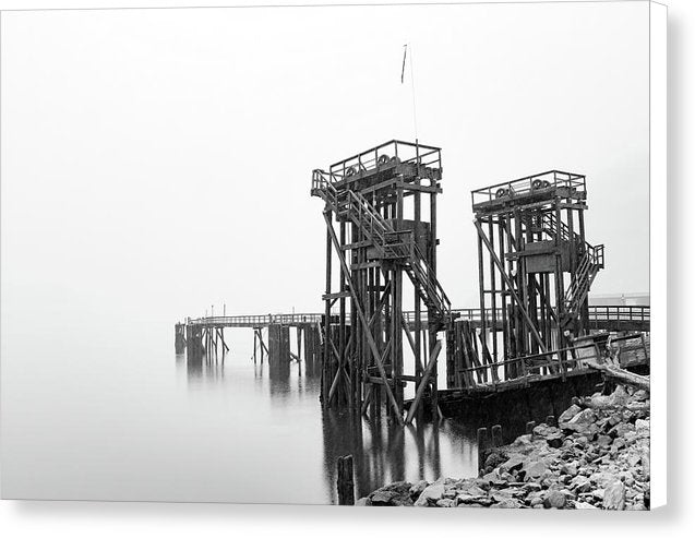 Industrial Pier - Canvas Print from Wallasso - The Wall Art Superstore