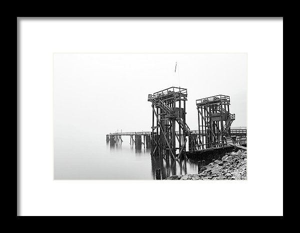 Industrial Pier - Framed Print from Wallasso - The Wall Art Superstore