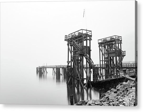 Industrial Pier - Acrylic Print from Wallasso - The Wall Art Superstore