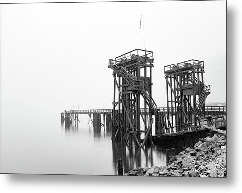 Industrial Pier - Metal Print from Wallasso - The Wall Art Superstore