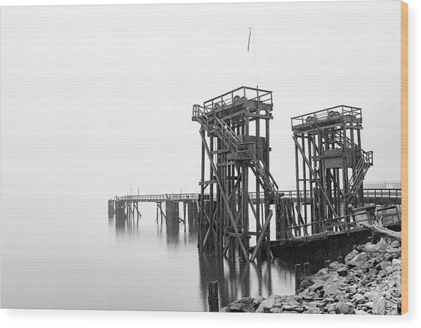 Industrial Pier - Wood Print from Wallasso - The Wall Art Superstore