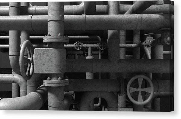 Industrial Pipes - Canvas Print from Wallasso - The Wall Art Superstore