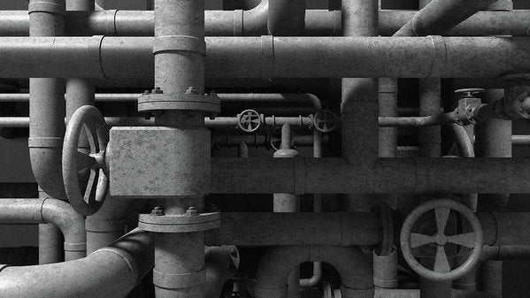 Industrial Pipes - Art Print from Wallasso - The Wall Art Superstore