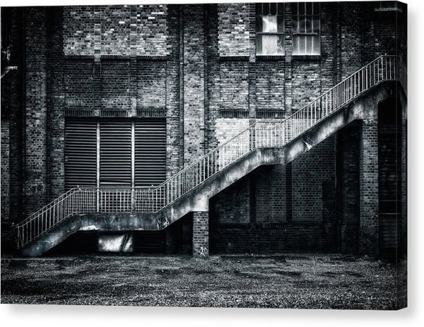 Industrial Staircase and Wall - Canvas Print from Wallasso - The Wall Art Superstore