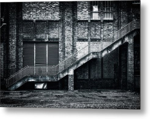 Industrial Staircase and Wall - Metal Print from Wallasso - The Wall Art Superstore