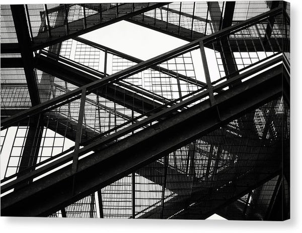 Industrial Stairs - Canvas Print from Wallasso - The Wall Art Superstore