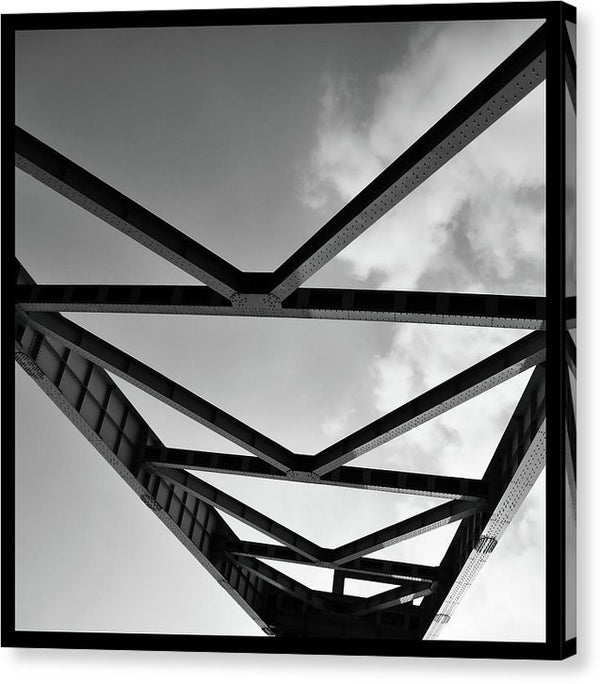 Industrial Steel Beams and Girders - Canvas Print from Wallasso - The Wall Art Superstore