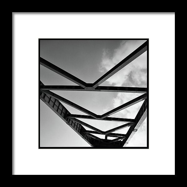 Industrial Steel Beams and Girders - Framed Print from Wallasso - The Wall Art Superstore