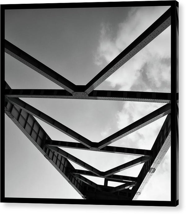 Industrial Steel Beams and Girders - Acrylic Print from Wallasso - The Wall Art Superstore