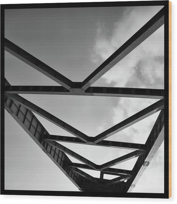 Industrial Steel Beams and Girders - Wood Print from Wallasso - The Wall Art Superstore
