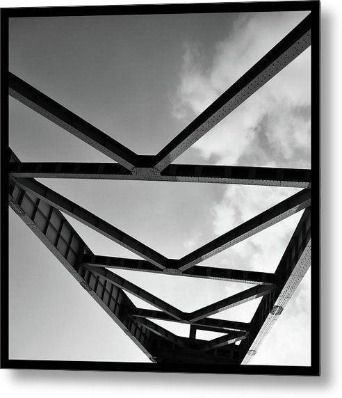 Industrial Steel Beams and Girders - Metal Print from Wallasso - The Wall Art Superstore