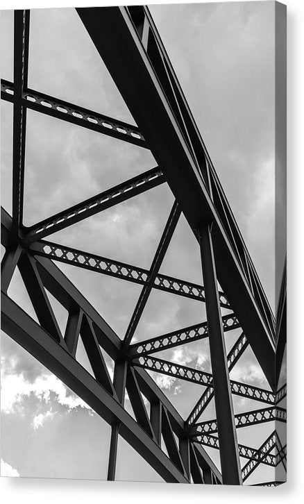 Industrial Steel Beams - Canvas Print from Wallasso - The Wall Art Superstore