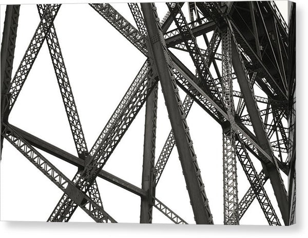 Industrial Steel Structure - Canvas Print from Wallasso - The Wall Art Superstore