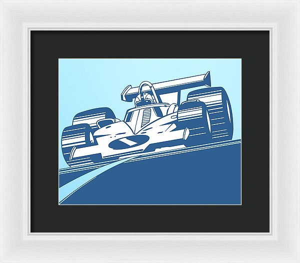 Indy 500 Race Car For Kids - Framed Print from Wallasso - The Wall Art Superstore